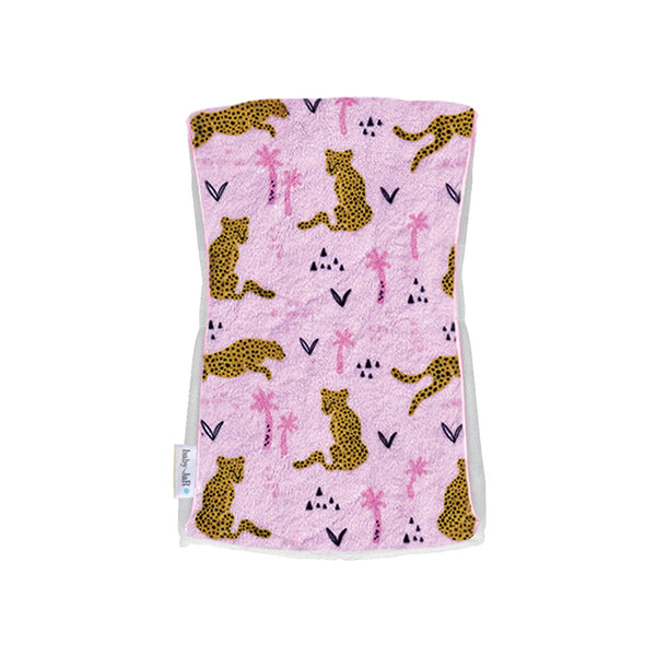 Single Plush Burp Cloth - Leopards