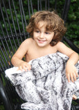 Luxe Cuddle Big Kid Blanket - Mink & Cream