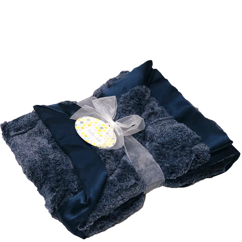 Luxe Blanket - Heather Navy
