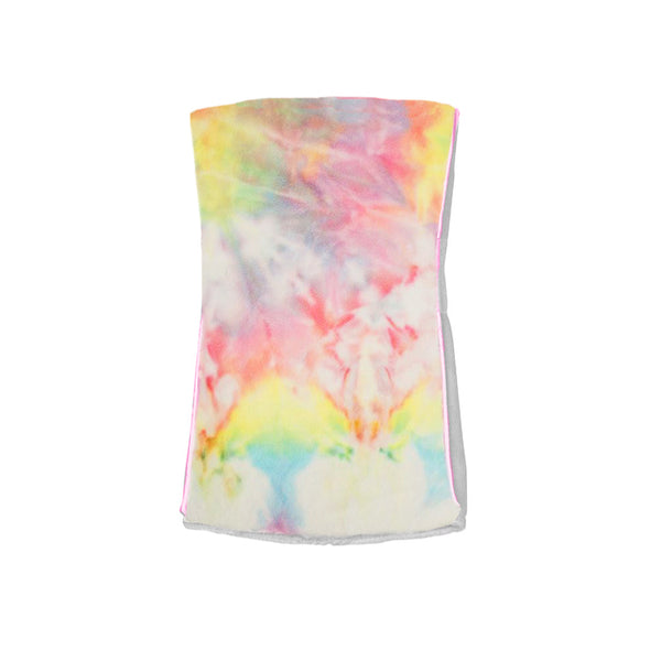 Single Plush Burp Cloth - Pastel Rainbow Tie-Dye