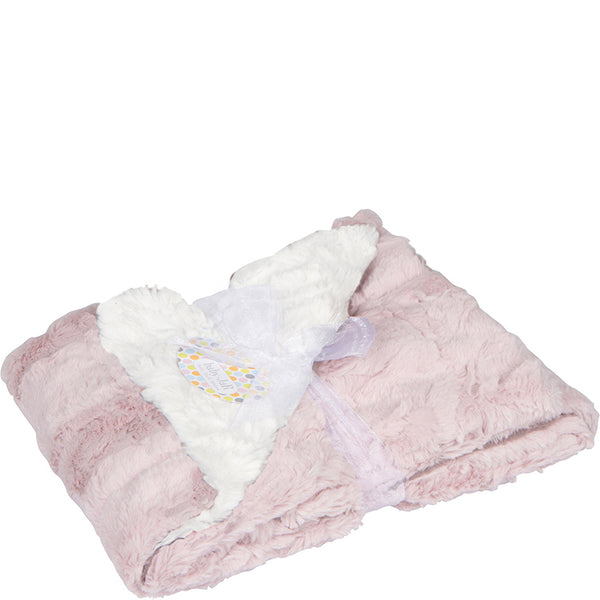 Luxe Cuddle Stroller Blanket - Pink & Cream