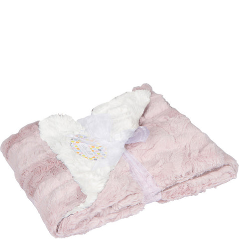 Luxe Cuddle Big Kid Blanket - Cream & Pink
