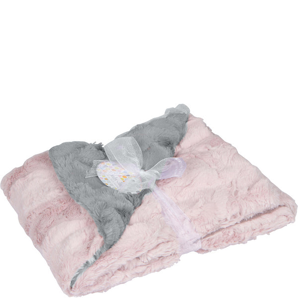 Luxe Cuddle Stroller Blanket - Pink & Silver