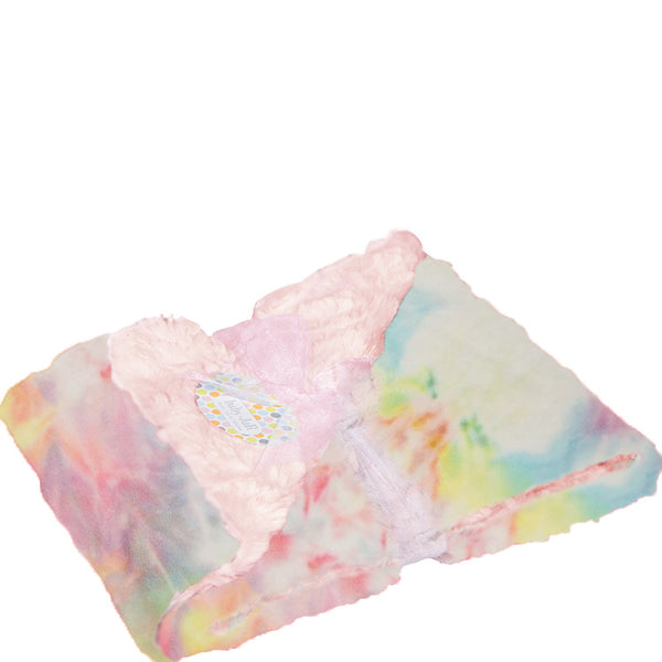 Pastel Rainbow Tie-Dye Big Kid Blanket