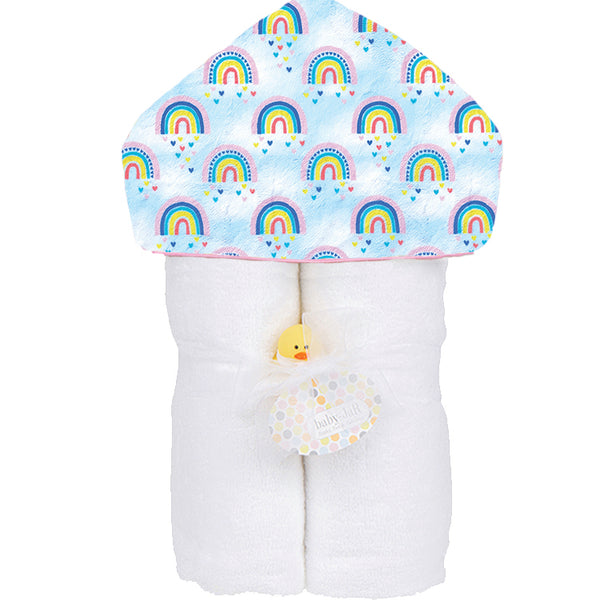 Plush Hooded Towel - Over the Rainbow