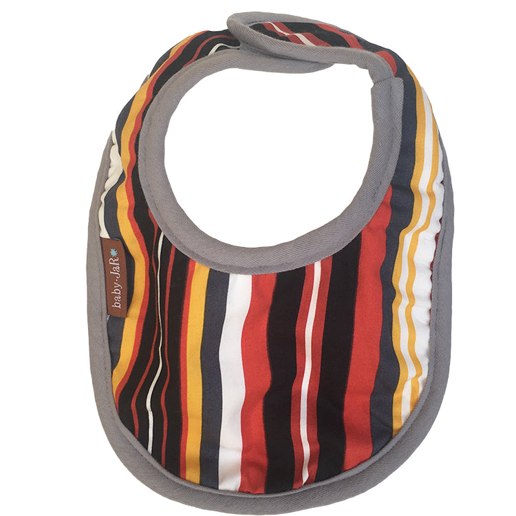 drool bib retro stripe 0-6 size bibs