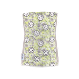 Single Plush Burp Cloth - Yellow Tie-Dye Smiley