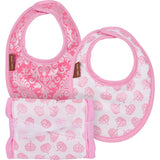 Princess Crown burp cloth and drool bib with damask drool Bib - Burp N' Drool Boxed Baby Gift Set