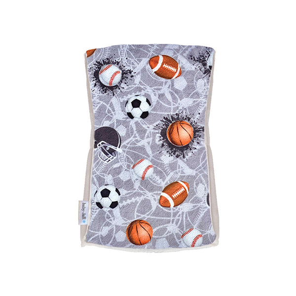 Single Plush Burp Cloth - Sports Jam