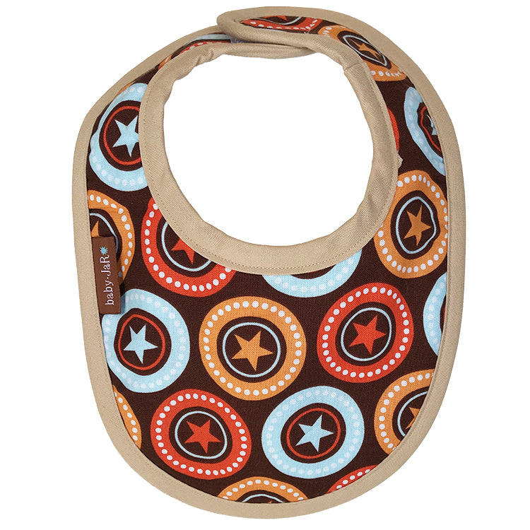 drool bib with star print 0-6 size bibs