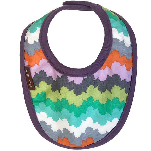 drool bib pastel waves 0-6 size bibs