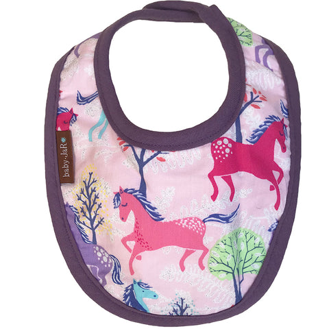 Drool Bib Single - Wild Horses