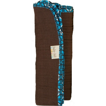 Solid Swaddle Brown -  Geometric Trim