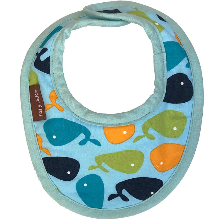 drool bib with whale print 0-6 size bibs