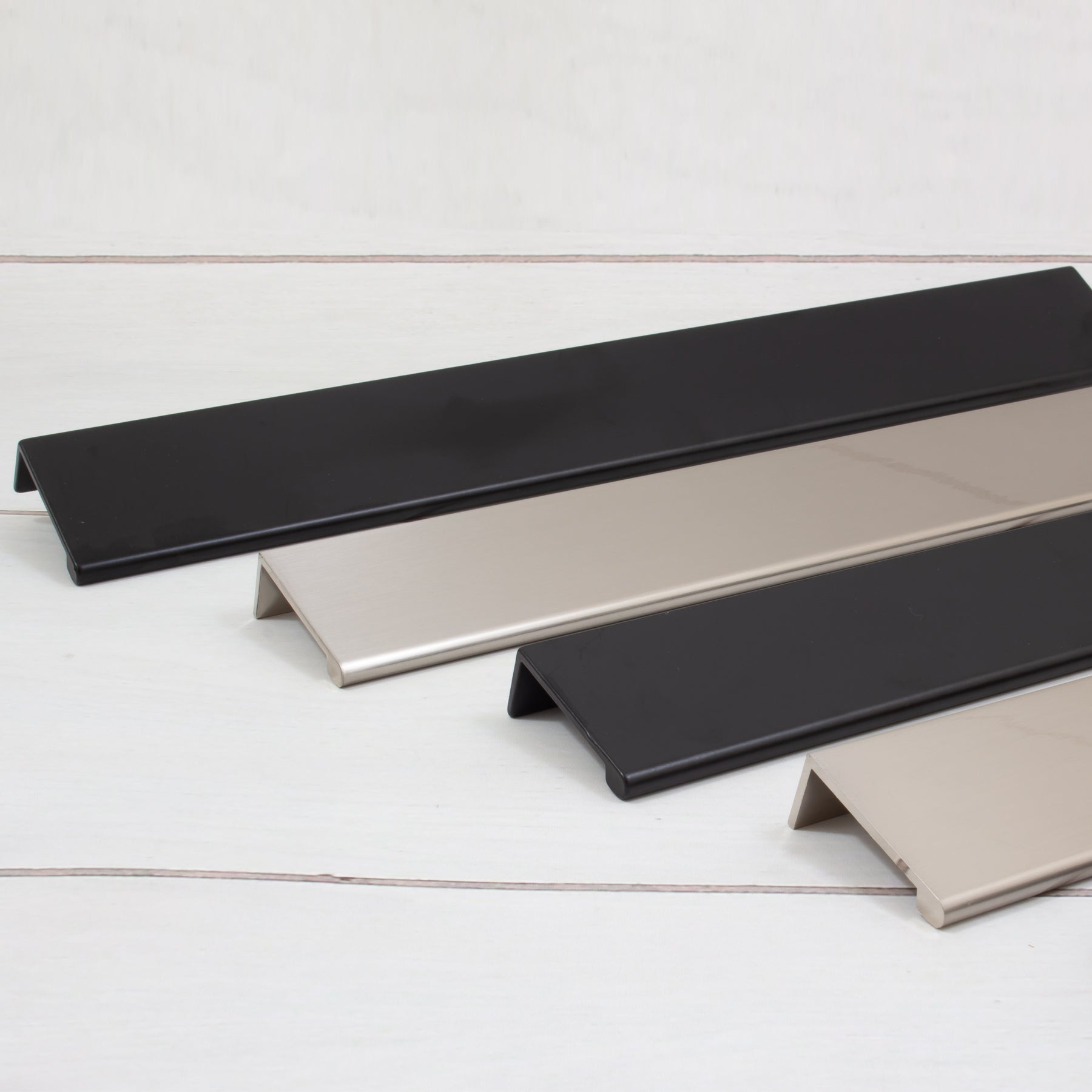 Add a Modern Look with our Cabinet Edge Pulls!
