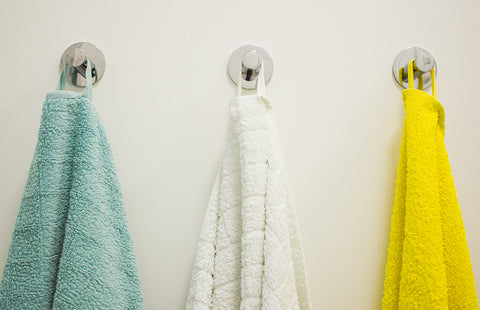 Towels on Robe Hooks