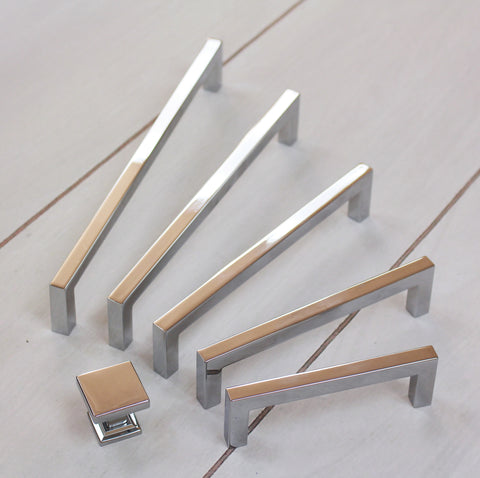 Contemporary Square Collection - Polished Chrome
