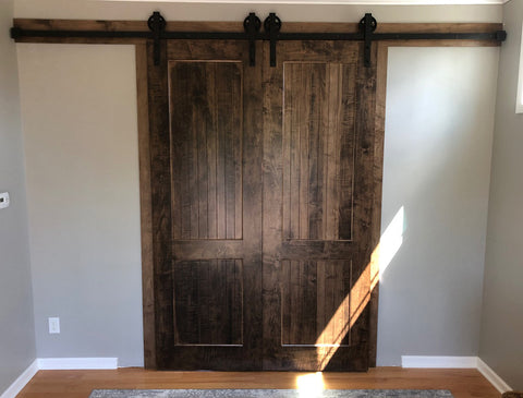 Wagon Wheel sliding door set