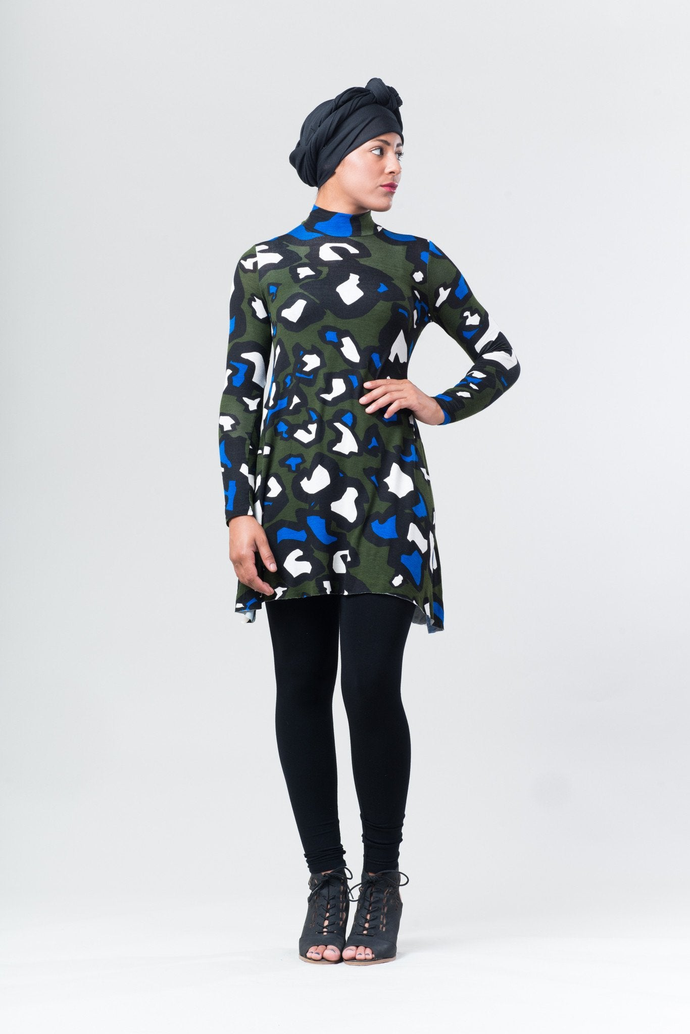 Amanda Long Sleeved Dress - Animal Print