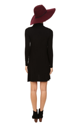 Amanda Long Sleeved Dress - Black