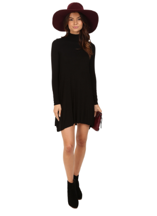 Amanda Long Sleeved Dress - Black - Reina Valentina