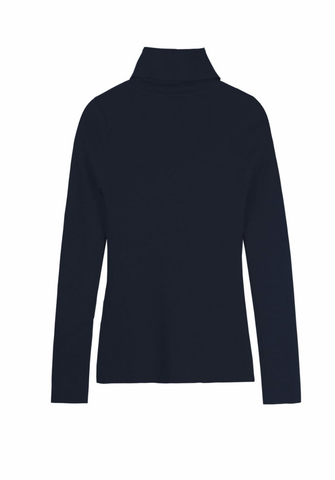 Navy Blue Knit Top - Reina Valentina