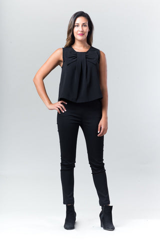 Bow Crop Top - Black - Reina Valentina