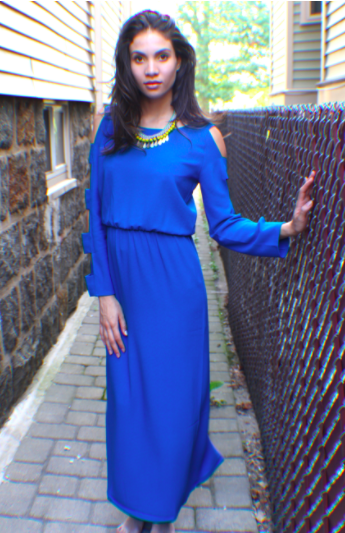 Florence Maxi Dress - Blue - Reina Valentina
