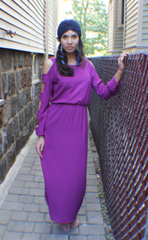 FLORENCE MAXI DRESS - FUSCHIA - Reina Valentina
