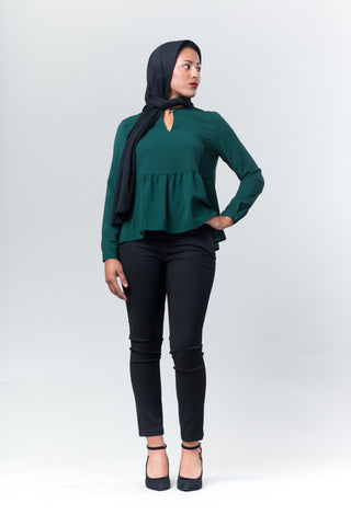 Margot Peplum Top - Reina Valentina