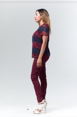 SKINNY TROUSERS - MULBERRY - Reina Valentina