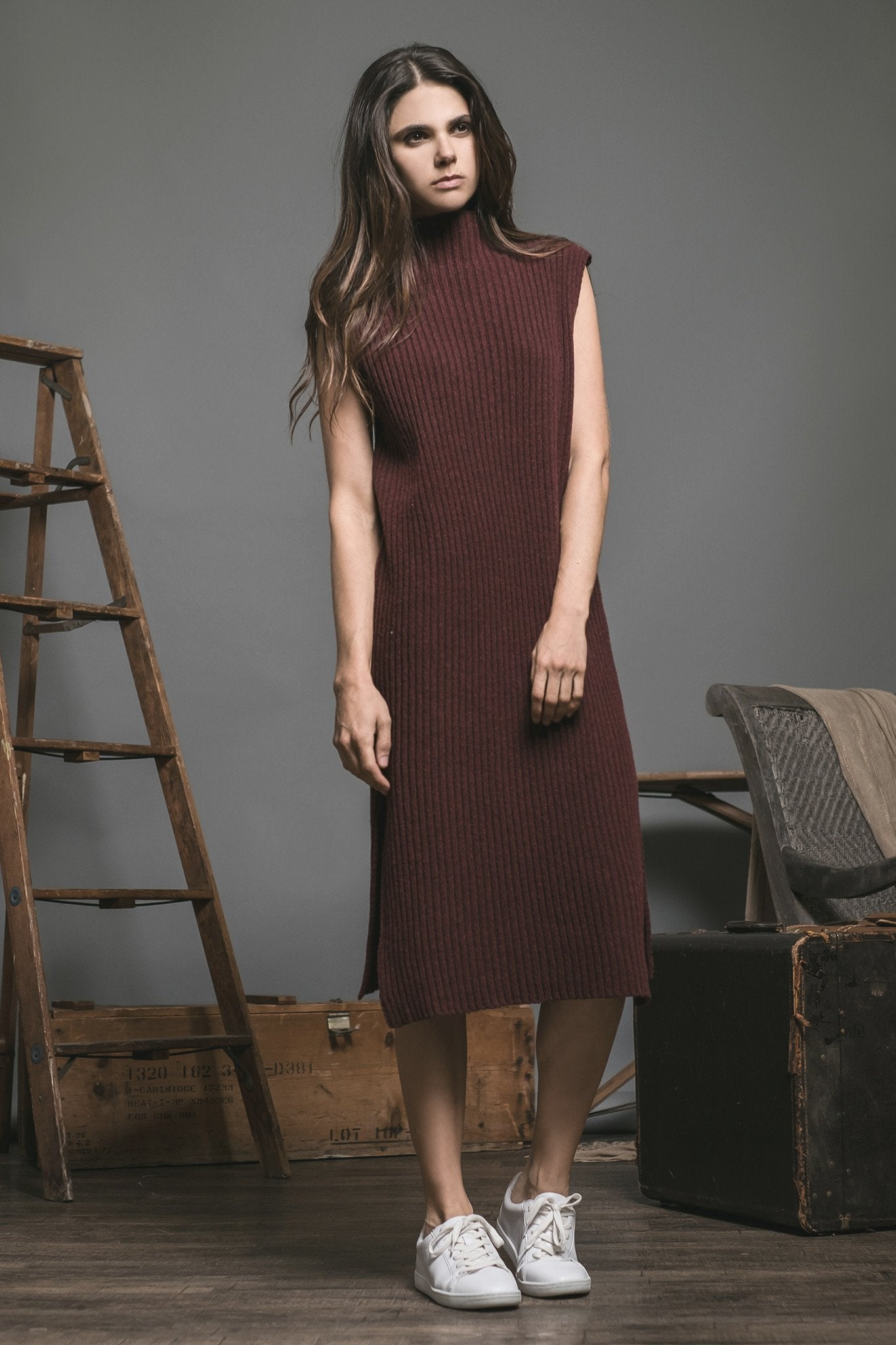 Midi Sweater Dress - Reina Valentina