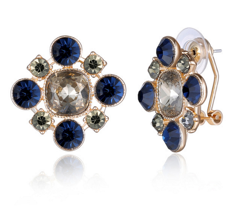 Jewel Blue Stud earrings - Reina Valentina
