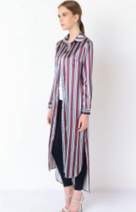 striped pajama shirt dress six crisp days