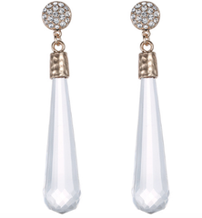 Rhinestone Earrings - Reina Valentina