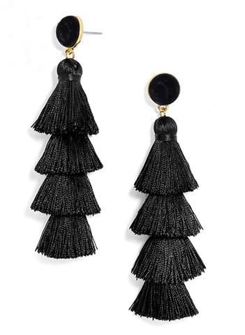 3699543b9 Blue Ivy Jeweled Tassel Earrings – Reina Valentina