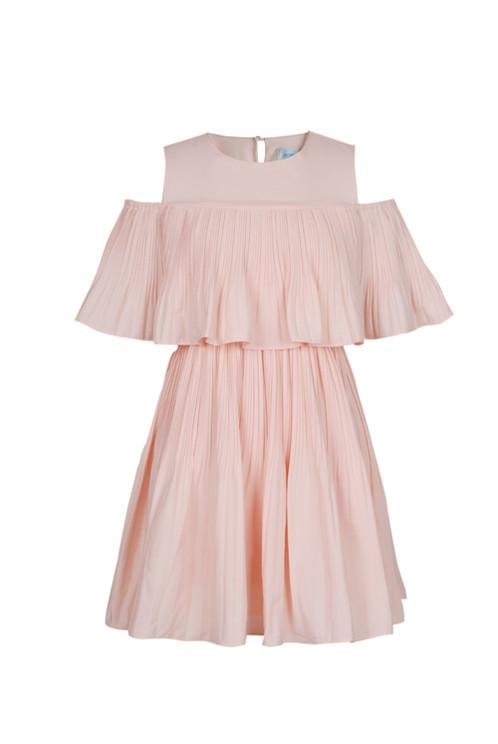 Vera Pleated Off Shoulder Dress - Reina Valentina
