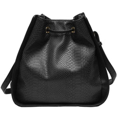 Alexandra Structured Bucket Bag - Black