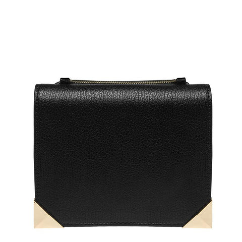 Coco Foldover Cross Body - Black - Reina Valentina