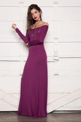 Larisa Dress - Claret - Reina Valentina