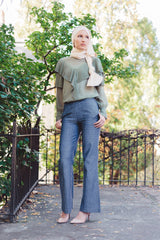 Chambray Pants - Reina Valentina