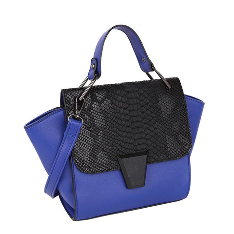 Ricci Winged Top Handle Bag - Blue - Reina Valentina