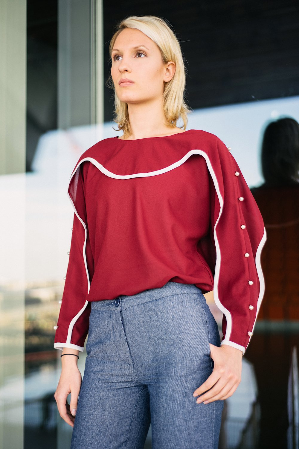 Wavelength Blouse - Red