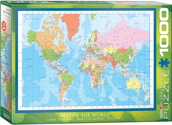 Modern Map of the World Jigsaw Puzzle