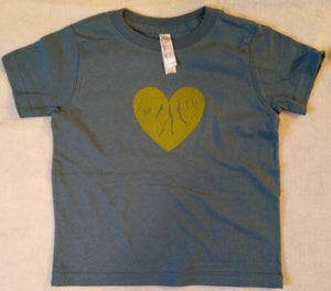 "Toddler Blue ""Green Heart of the Finger Lakes"" T-shirt"