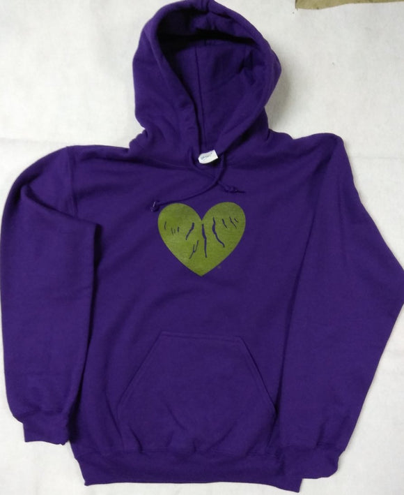 Hoodie (Adult Small) - Green Heart of the Finger Lakes