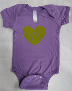 "Purple ""Green Heart of the Finger Lakes"" Onesie"