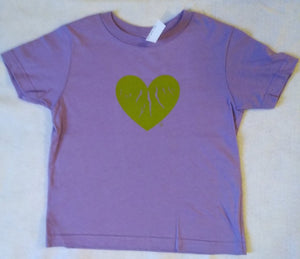 "Toddler Purple ""Green Heart of the Finger Lakes"" T-shirt"