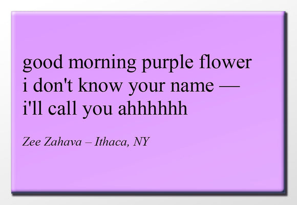 Good Morning Purple Flower 2X3 Magnet