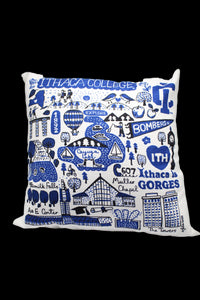 Ithaca College Chenille Throw Pillow